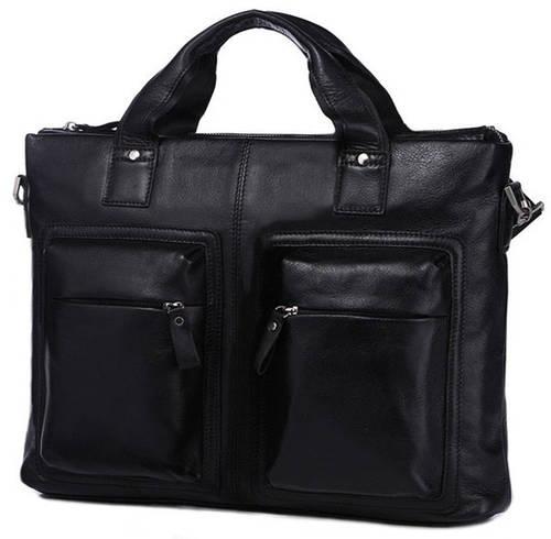 Классическая мужская кожаная сумка Jasper & Maine 7177A