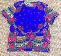 Рубашка мужская из платка в стиле Матрешка