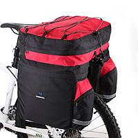 Велосумка штаны на багажник 60л Roswheel 14590-D красно-чёрная