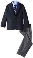 Нарядный выпускной костюм с синим пиджаком на мальчика 3-6 лет