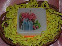 """Мыло с картинкой """"Цветы с подарком"""""""