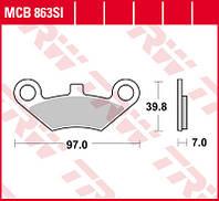 Тормозные колодки для квадроциклов CF MOTO TRW / Lucas MCB863SI