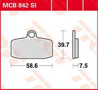 KTM / Husqvarna тормозные колодки комплект TRW / Lucas MCB842SI