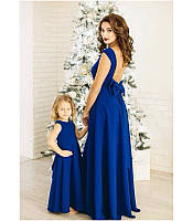 Платье в пол для мамы и дочки
