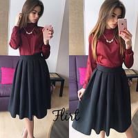 Юбка женская Мадлен черная, модные юбки