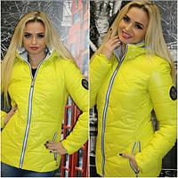 Женская красивая демисезонная курточка в расцветках (р-ры 42-50)