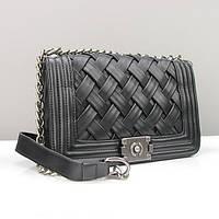 Женская сумочка Chanel черная плетеная
