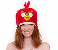Шапка для бани и сауны Angry Birds 100% шерсть
