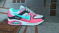 Женские повседневные кроссовки NIKE Air Max розовые с бирюзой