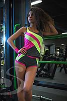 Яркие шорты для фитнеса Салатовый