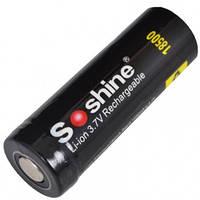 Аккумулятор литиевый Li-Ion 18500 Soshine 3.7V (1400mAh), защищенный