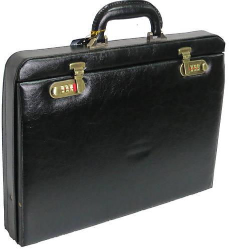 Мужской кейс-дипломат из искусственной кожи 4U Cavaldi черный CD-296