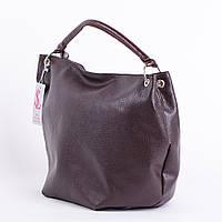 Сумка-мешок женская коричневая большая №1360bn