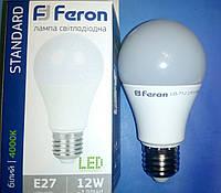 Светодиодная лампа типа А60 Feron LB712 12W 4000K  для общего и декоративного освещения