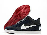 Подростковые кроссовки Nike Force темно-синие (найк форс)