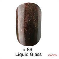 Гель-лак Naomi Gel Polish 86, 6 мл (коричнево-шоколадный с бронзовым перламутровым блеском)