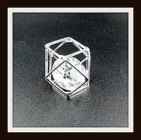 "Кулон метал. ""многогранник серебряный"" 2,1*2,8 см"