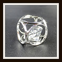 "Кулон метал. ""куб серебряный"" 1.4*1.4 см"