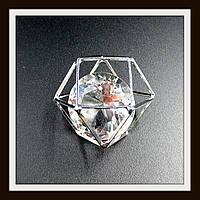 "Кулон метал. ""многогранник серебряный"" 2,5*3,6 см"