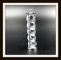 "Кулон метал. ""цилиндр серебряный"" 0,9*4,4 см"