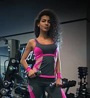 Фитнес-майка стильный комфорт Розовый