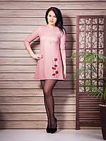 Очень красивое нежное платье с яркими цветами