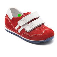 Кожаная, спортивная обувь для девочек, на липучках, размер 20-30