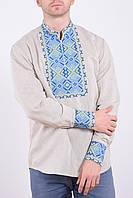 Мужская рубашка из высококачественного льна и богато декорирована вышивкой