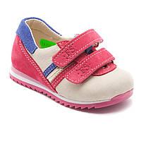 Детские кроссовки на липучках, натуральная кожа, для девочки, размер 20-30
