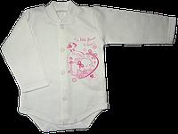 Качественный бодик для малышей 50-56 р