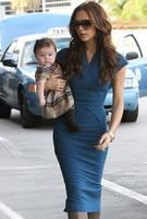 Платье Victoria Beckham василькового цвета KM70195