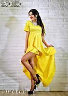 Элегантное молодежное платье со шлейфом ВИП723