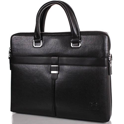 Красивая мужская сумка из качественного кожезаменителя с карманом для ноутбука JIN DIAO (ДЖИН ДИАО), SHI6831-3