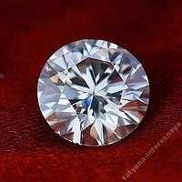 Муассанит -бриллиант чисто белый 0.3 ct 4 mm.VVS1