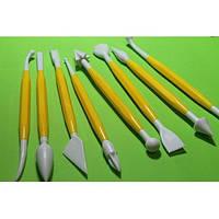 Набор инструментов для мастики желтый