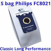 Одноразовые мешки пылесборники s bag Philips FC8021/03 для пылесосов FC 9073, FC 9071