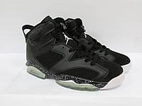 Мужские кроссовки Nike Lebron 6 retro (384664-001) черно-белые код 0135А