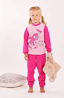 Детская трикотажная пижама для девочки  | Розовая