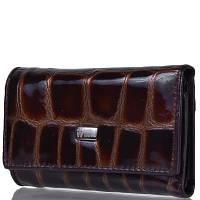 Женская кожаная ключница-кошелек с зеркалом WANLIMA (ВАНЛИМА) W50092146-coffee