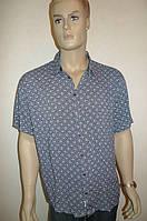 Мужская рубашка хлопок бамбук большой размер: 3XL, 4XL, 5XL