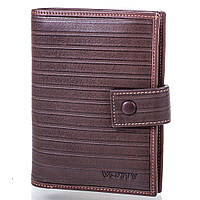 Мужской кожаный бумажник с отделением для паспорта VERITY (ВЕРИТИ) MISS173039-brown