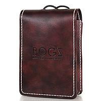 Мужской кожаный бумажник ручной работы BOGZ (БОГЗ) BZ-2-A132