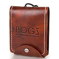 Мужское кожаное портмоне ручной работы  BOGZ (БОГЗ) BZ-3-A114-plus