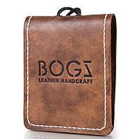 Мужское кожаное портмоне ручной работы  BOGZ (БОГЗ) BZ-4-A113