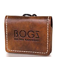 Мужское кожаное мини-портмоне ручной работы  BOGZ (БОГЗ) BZ-5-A103