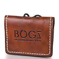 Мужское кожаное мини-портмоне ручной работы  BOGZ (БОГЗ) BZ-5-A104