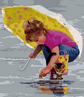 "Картина по номерам ""Под желтым зонтом"" 40х50 см"