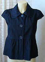 Жакет женский джинсовый модный короткий рукав Denim Co р.46 5615