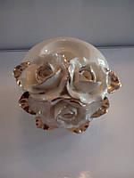 Подсвечник керамика 10см Розы