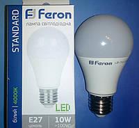 Светодиодная лампа типа А60 Feron LB710 10W 4000K  для общего и декоративного освещения